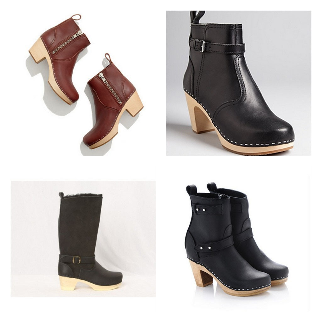 Examples of ankle boot clogs