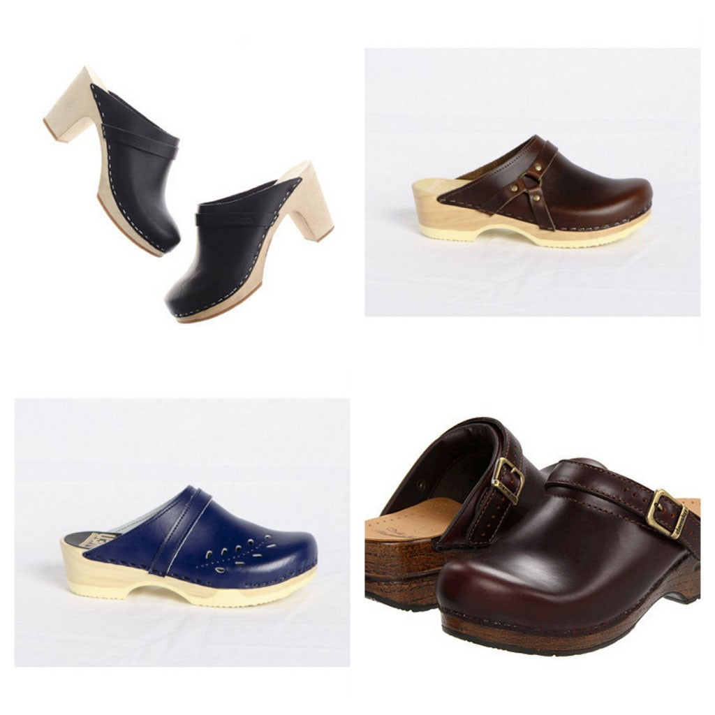 Examples of slip-on clogs