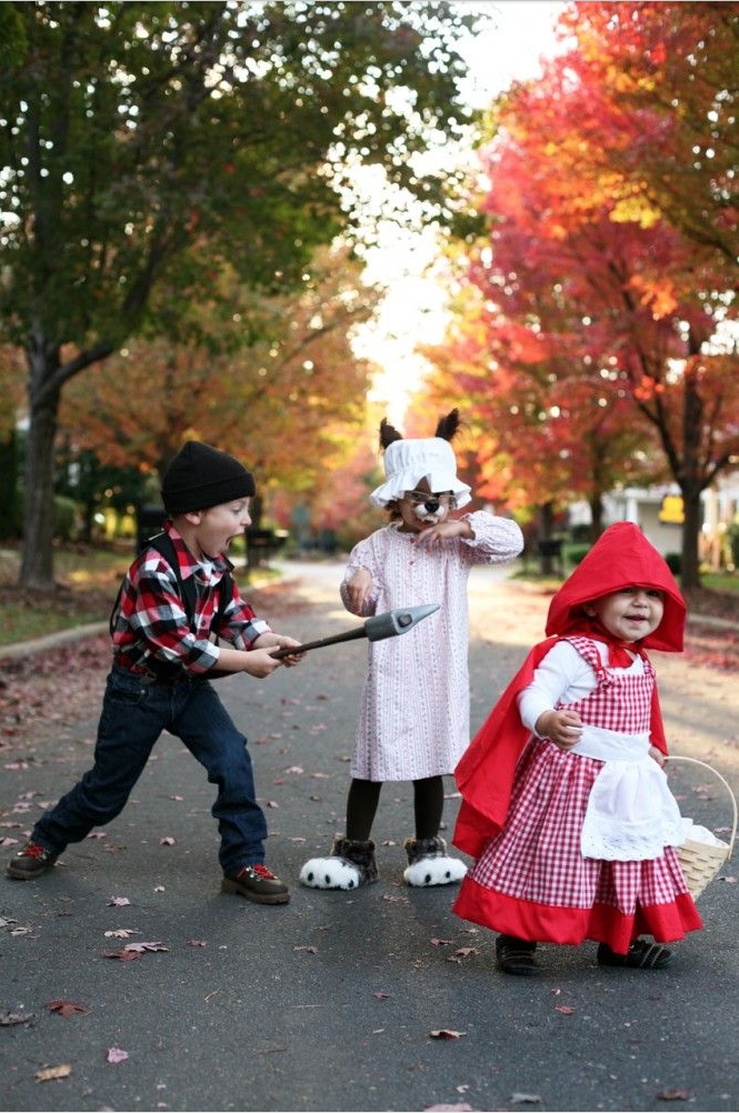30 Best Costumes for Kids (Red Riding Hood, Wolf, and Huntsman)