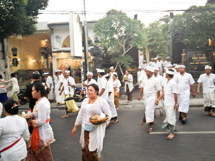 People in the streets at Seminyak Bali