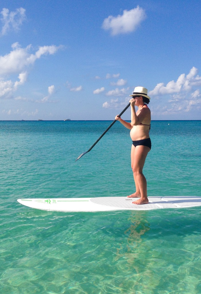Paddle boarding at Grand Cayman