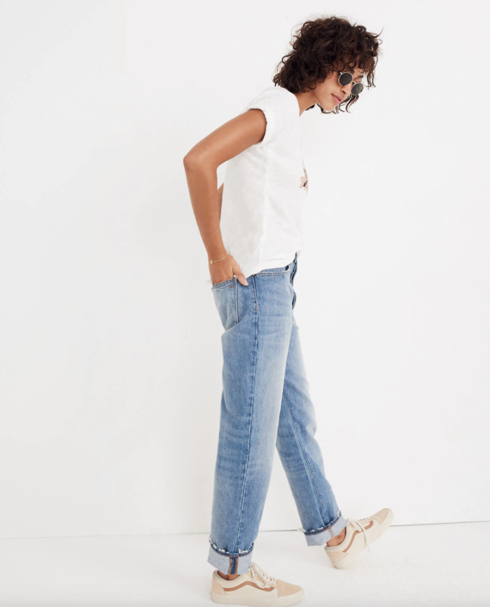 best denim madewell dad style