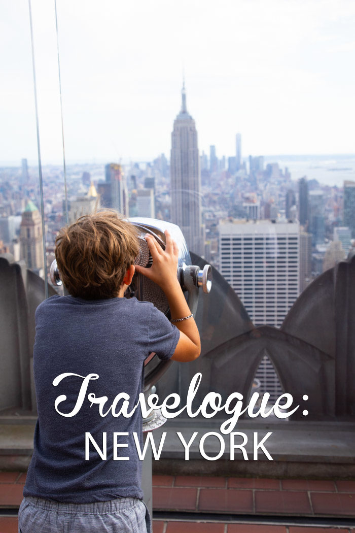 Travelogue, New York, New York City, Family trip
